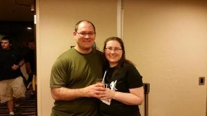 Breja and Jen at World of Podcasts 2014